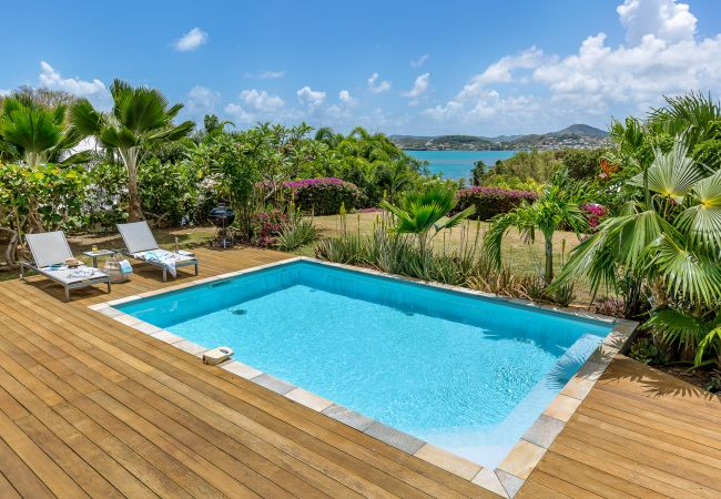 Villa/Dettached house in Le Vauclin - Royal Palm - dream villa with sea and countryside views